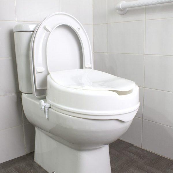 Elevador de WC de 15 cm con tapa
