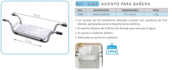 Asiento para baño U261 de la marca PRIM